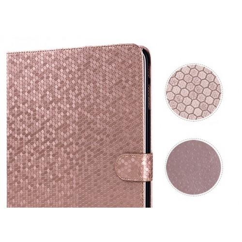 Чехол портмоне подставка текстурный серия Honeycomb для Samsung Galaxy Tab 4 8.0 Зеленый