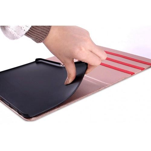 Чехол портмоне подставка текстурный серия Honeycomb для Samsung Galaxy Tab 4 8.0 Черный