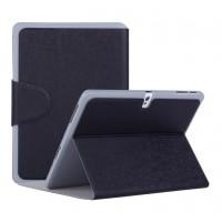 Чехол смарт флип подставка текстурный с застежкой для Samsung Galaxy Tab Pro 10.1 Черный