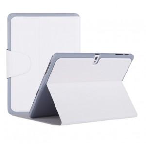 Чехол смарт флип подставка текстурный с застежкой для Samsung Galaxy Tab Pro 10.1 Белый