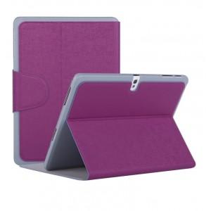 Чехол смарт флип подставка текстурный с застежкой для Samsung Galaxy Tab Pro 10.1 Фиолетовый