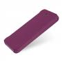 Кожаный чехол книжка горизонтальная (нат. кожа) для Iphone 5c фиолетовая