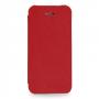 Кожаный чехол книжка горизонтальная (нат. кожа) для Iphone 5c красная