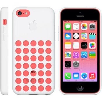 Оригинальный силиконовый чехол Apple для Iphone 5c Белый