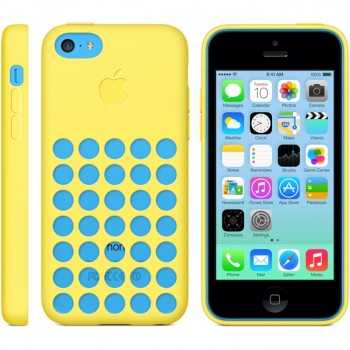 Оригинальный силиконовый чехол Apple для Iphone 5c Желтый