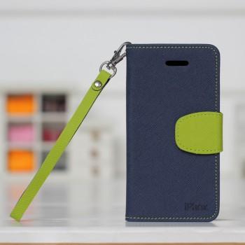 Чехол портмоне подставка для Iphone 5c Синий