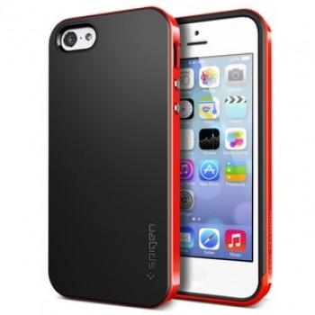 Оригинальный премиум чехол силикон/поликарбонат для Iphone 5c Красный