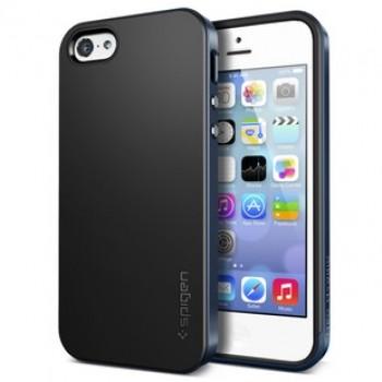 Оригинальный премиум чехол силикон/поликарбонат для Iphone 5c Синий