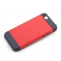 Чехол силикон/поликарбонат D-Colour для Iphone 5c Красный