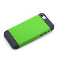 Чехол силикон/поликарбонат D-Colour для Iphone 5c Зеленый