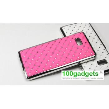 Чехол пластик/металл со стразами для HTC Desire 600