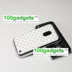 Чехол пластик/металл со стразами для Nokia Lumia 620