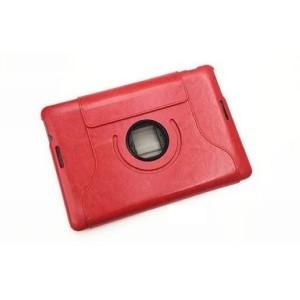 Чехол подставка роторный серия Glossy Shield для ASUS MeMoPad 10 Me102a Красный