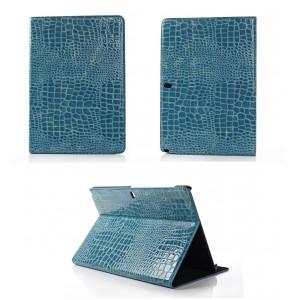 Чехол подставка серия Croco Pattern для Samsung Galaxy Note Pro 12.2 Синий