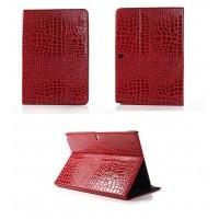Чехол подставка серия Croco Pattern для Samsung Galaxy Note Pro 12.2 Красный