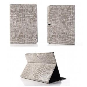 Чехол подставка серия Croco Pattern для Samsung Galaxy Note Pro 12.2 Серый