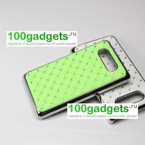 Чехол пластик/металл со стразами для Nokia Lumia 820