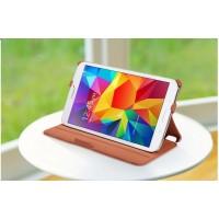 Чехол подставка текстурный для Samsung Galaxy Tab 4 8.0 Коричневый