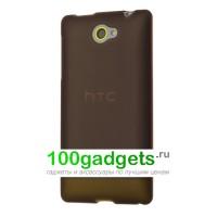 Силиконовый чехол серый для HTC Windows Phone 8S