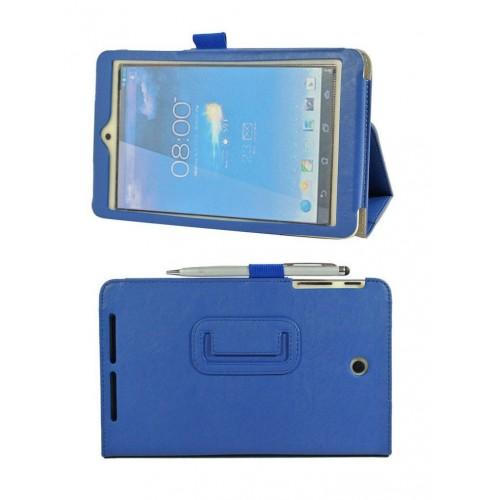 Чехол подставка с внутренними отсеками серия Full Cover для Asus Memo Pad HD 8 Синий