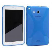Силиконовый чехол X для Samsung Galaxy Tab 3 Lite 7.0 Голубой