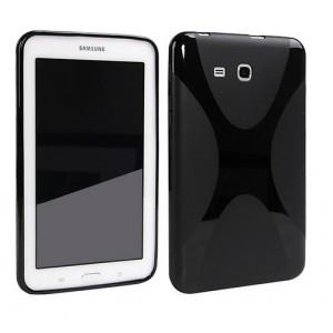Силиконовый чехол X для Samsung Galaxy Tab 3 Lite 7.0 Черный