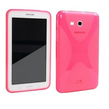 Силиконовый чехол X для Samsung Galaxy Tab 3 Lite 7.0 Розовый