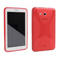 Силиконовый чехол X для Samsung Galaxy Tab 3 Lite 7.0 Красный