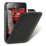Кожаный чехол книжка (нат.кожа) для LG Optimus L3 2 II