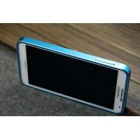 Сверхлегкий ультратонкий премиум металлический чехол для Samsung Galaxy Note 3 (используется при снятой задней крышке) (N9002, N9006, N9008, N9009) Синий