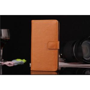 Чехол кожаный флип для Sony Xperia Z1 Compact Оранжевый
