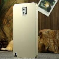 Сверхлегкий ультратонкий премиум металлический чехол для Samsung Galaxy Note 3 (используется при снятой задней крышке) (N9002, N9006, N9008, N9009) Бежевый
