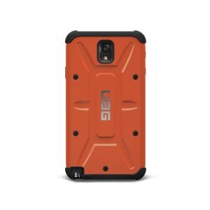 Противоударный двухкомпонентный силиконовый матовый непрозрачный чехол с поликарбонатными вставками экстрим защиты для Samsung Galaxy Note 3 Оранжевый
