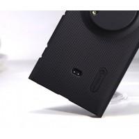 Пластиковый матовый нескользящий премиум чехол для Nokia Lumia 1020 Черный