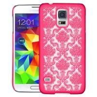 Пластиковый узорный чехол для Samsung Galaxy S5 Розовый