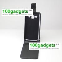 Чехол вертикальная книжка с магнитной застежкой для Samsung Galaxy Ace 3