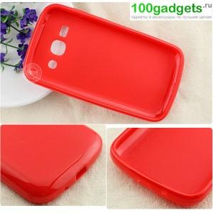 Силиконовый чехол для Samsung Galaxy Ace 3 Красный