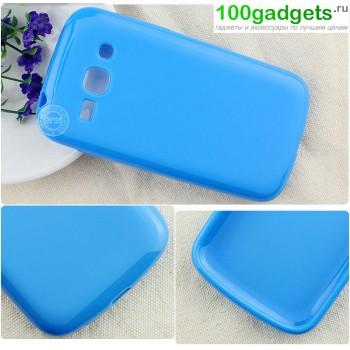 Силиконовый чехол для Samsung Galaxy Ace 3 Голубой