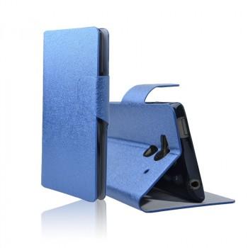 Чехол портмоне подставка для Acer Liquid Z5 Голубой