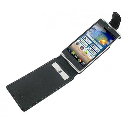 Кожаный чехол книжка вертикальная (нат. кожа) для Acer Liquid Z5