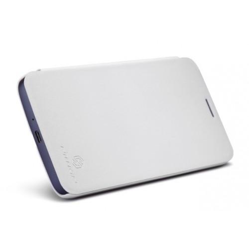 Чехол флип на основе матового премиум пластика для Alcatel One Touch Hero Белый