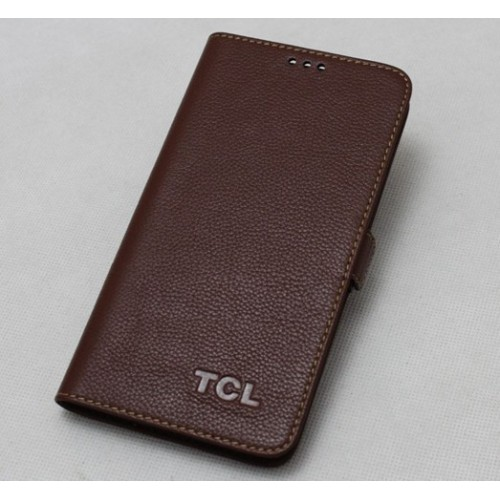 Кожаный чехол портмоне (нат. кожа) для Alcatel One Touch Hero