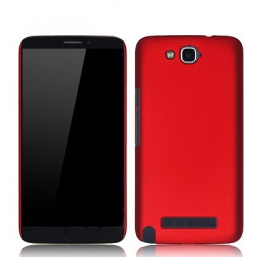 Пластиковый чехол для Alcatel One Touch Hero Красный