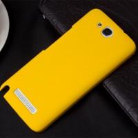 Пластиковый чехол для Alcatel One Touch Hero Желтый