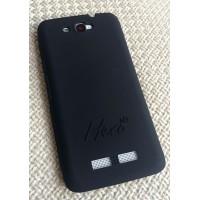 Силиконовый чехол софт тач премиум для Alcatel One Touch Hero Черный
