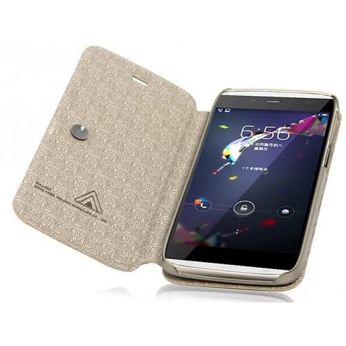 Чехол флип подставка на присоске серия Glossy Shield для Alcatel One Touch Idol Alpha Черный