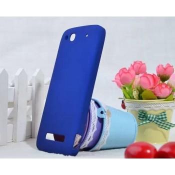 Пластиковый чехол для Alcatel One Touch Idol Alpha Синий