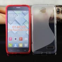 Силиконовый чехол S для Alcatel One Touch Idol Mini Белый