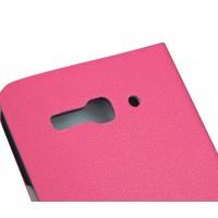 Чехол флип подставка для Alcatel One Touch Idol S Красный