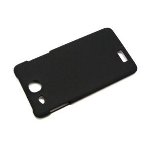 Пластиковый матовый чехол для Alcatel One Touch Idol Ultra Черный